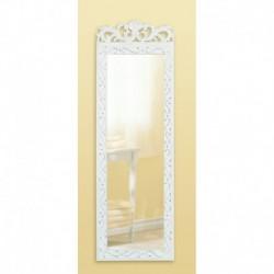 White Wood Wall Mirror