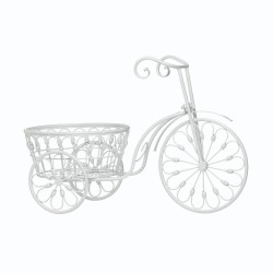 White Bicycle Planter