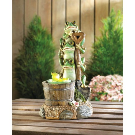 Solar Rotating Frog Garden Decor