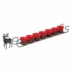 Reindeer Sleigh Candle Holder Display