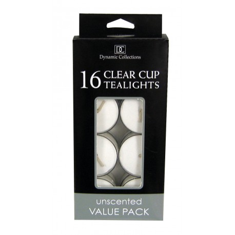 White Clear Cup Tealights