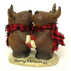 Christmas Moose Hug