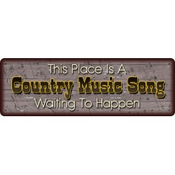 Country Music Song Sign