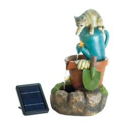 Solar Kitty Cat Fountain