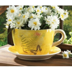 Garden Butterfly Teacup Planter