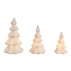 Porcelain Light Up Trees Decor Set