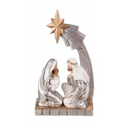 Silver Nativity Scene Figurine