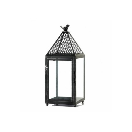Black Bird Iron Lantern
