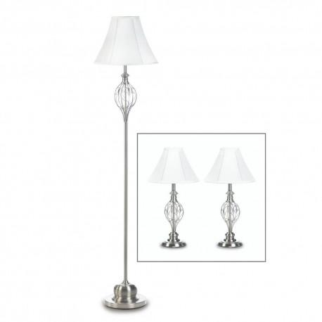 Scrollwork Design Lamp Trio