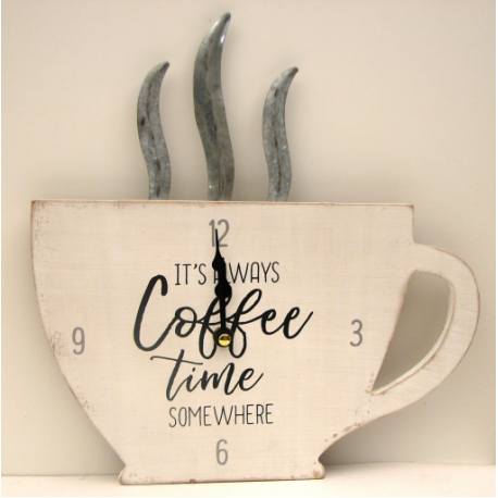 It's Always Coffee Time Somewhere Clock