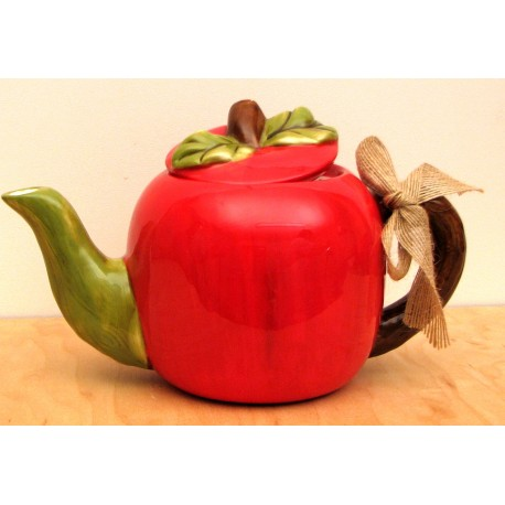 Ceramic Apple Tea Pot