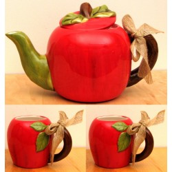 Ceramic Apple Tea Set