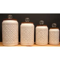 Ceramic 4 piece Canister Set