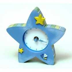 Roman Tender Embrace Blue Star Clock