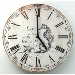 Wood Nautical Wall Clock