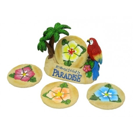 Paradise Parrot Coaster 5pc Set