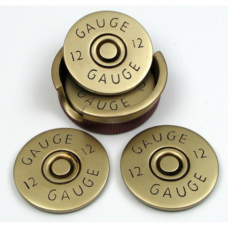 Shot Gun Shell Coaster Set