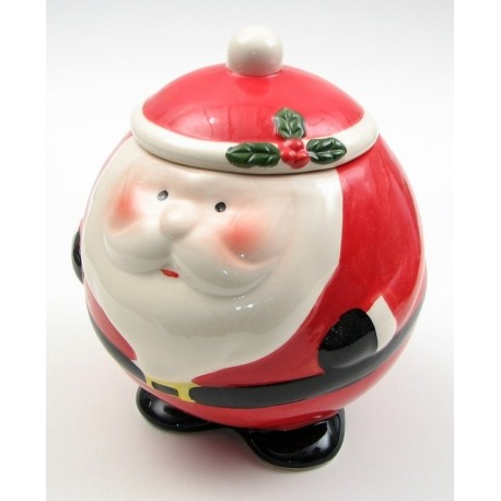 Round Santa Cookie Jar