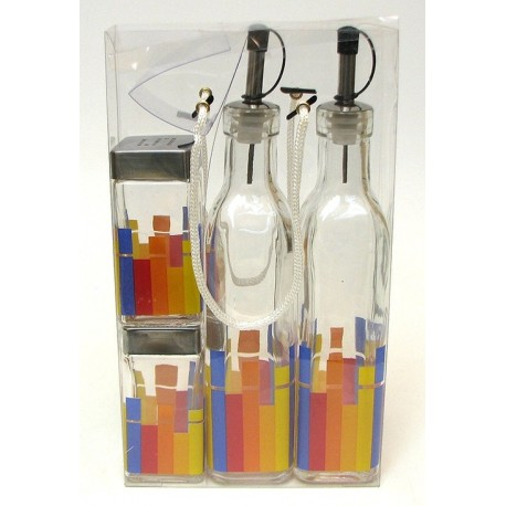 Vinegar and Oil Cooking 4pc set Rainbow