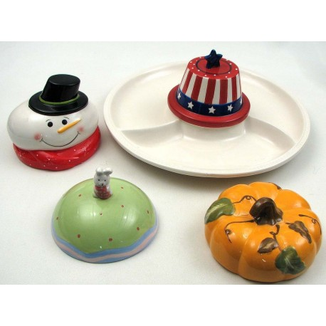 4 Season Ceramic Chip N Dip Set
