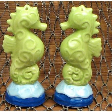 Ceramic Seahorse S/P Set