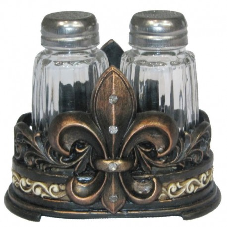 Fleur De Lis Salt and Pepper Set