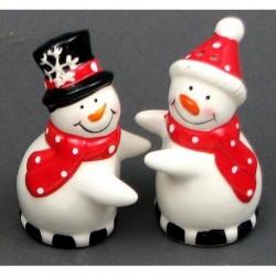 Ceramic Snowman S/P Set