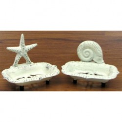 Seashell & Starfish Soap Dish Set/2