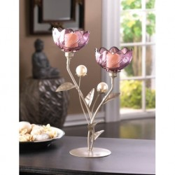Mulberry Blooms Candleholder