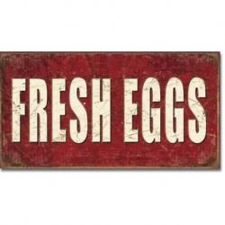 TIN SIGN Fresh Eggs