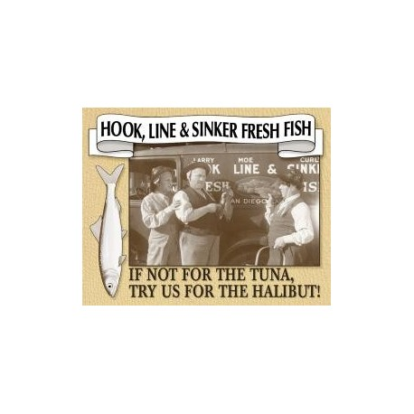 Tin Sign - Stooges - Fresh Fish