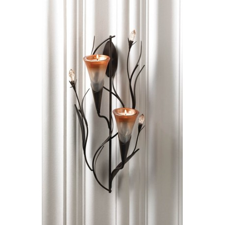Dawn Lilies Candle Wall Sconce