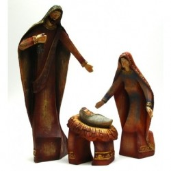 Wood-look Holy Family Set