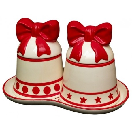 Christmas Bell Canister Set