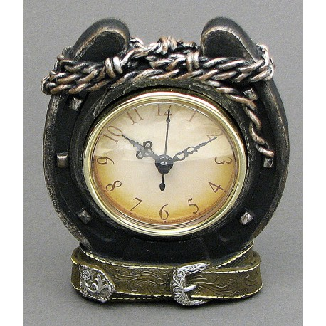 Western Horseshoe Desk Clock