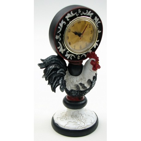 Resin Rooster Clock