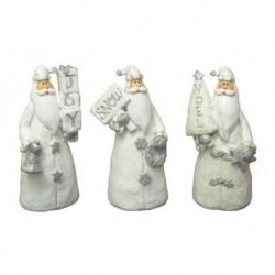 Resin Santa Figurines Set of Three