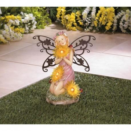 Garden Blooms Fairy Solar Statue