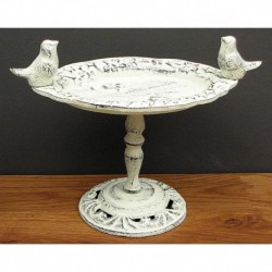 Antique White Bird Bath