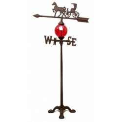 Cast Iron Horse & Carriage Weathervane