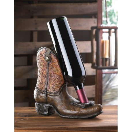 Lucky Cowboy Boot Wine Bottle Holder