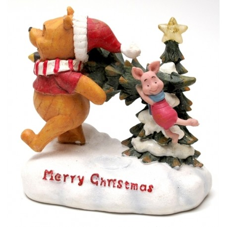 Disney Lighted Pooh & Piglet with Tree