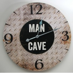 MAN CAVE Wall Clock