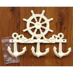 Cast Iron Ships Wheel Wall Hook
