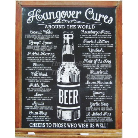 Tin Sign Hangover Cures