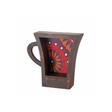 Dark Coffee Cup Shelf
