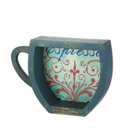 Blue Espresso Coffee Cup Shelf
